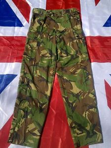 EX ARMY MILITARY DUTCH GREEN CAMO COMBAT TROUSERS